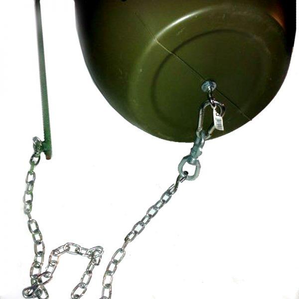 cadena con pica y mosquetón